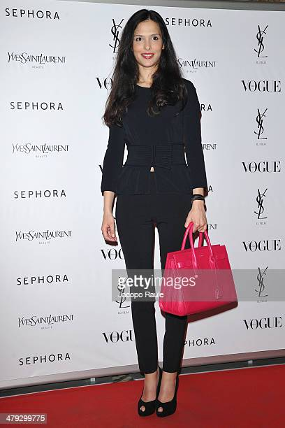 Nathalie Dompe attends 'Yves Saint Laurent' Premiere on March 17, 2014 in Milan, Italy.