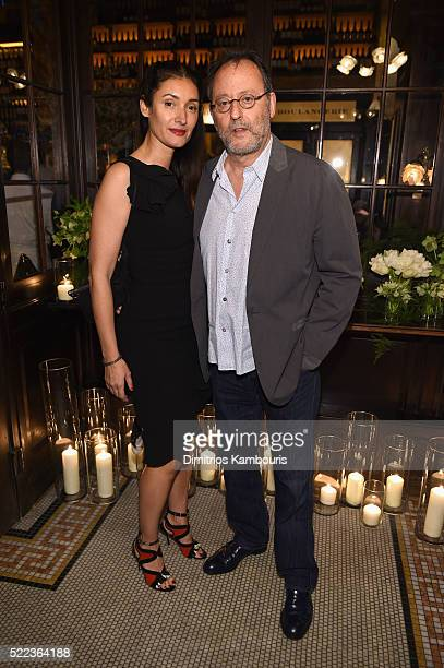 Nathalie Dyszkiewicz and actor Jean Reno attend CHANEL Tribeca Film Festival Artists Dinner - Arrivals on April 18, 2016 in New York City.