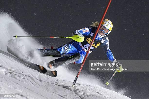 Nathalie Eklund of Sweden competes during the Audi FIS Alpine Ski World Cup Women's Slalom on December 20 2012 in Are Sweden