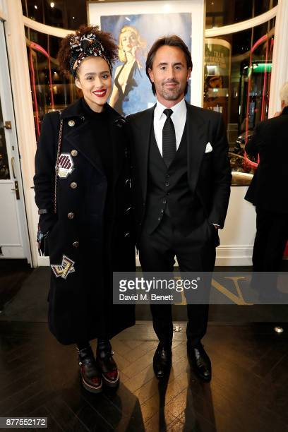 Nathalie Emmanuel and Jay Rutland attend an intimate VIP private view for The Connor Brothers with catering by Michelin Starred chef Tom Sellers at...