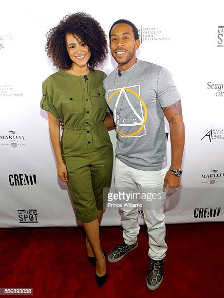 Nathalie Emmanuel and Ludacris attend CREATL on August 4 2016 in Atlanta Georgia