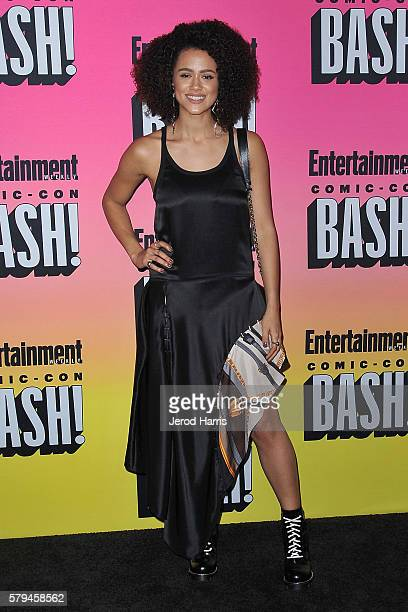 Nathalie Emmanuel arrives at Entertainment Weekly's Annual ComicCon Party at Float at Hard Rock Hotel San Diego on July 23 2016 in San Diego...