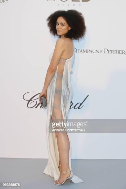 Nathalie Emmanuel arrives at the amfAR Gala Cannes 2018 at Hotel du CapEdenRoc on May 17 2018 in Cap d'Antibes France
