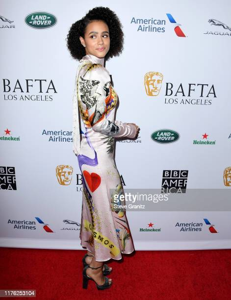 Nathalie Emmanuel arrives at the BAFTA Los Angeles BBC America TV Tea Party 2019 at The Beverly Hilton Hotel on September 21 2019 in Beverly Hills...