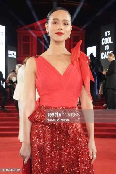 Nathalie Emmanuel arrives at The Fashion Awards 2019 held at Royal Albert Hall on December 2 2019 in London England