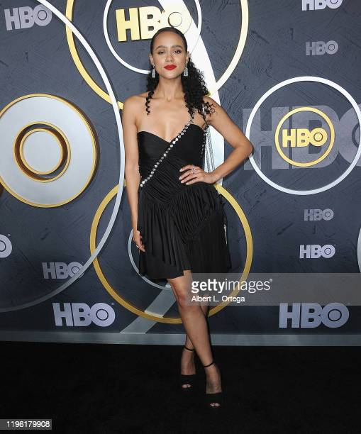 Nathalie Emmanuel arrives for the HBO's Post Emmy Awards Reception held at The Plaza at the Pacific Design Center on September 22, 2019 in West...