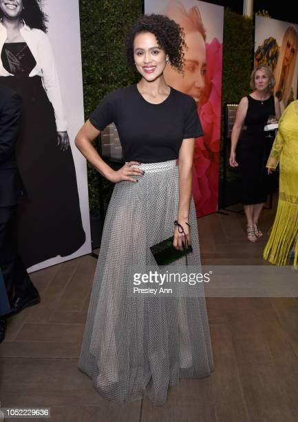 Nathalie Emmanuel attends ELLE's 25th Annual Women In Hollywood Celebration presented by L'Oreal Paris Hearts On Fire and CALVIN KLEIN at Four...