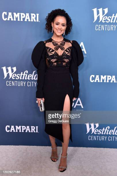 Nathalie Emmanuel attends the 22nd CDGA at The Beverly Hilton Hotel on January 28 2020 in Beverly Hills California