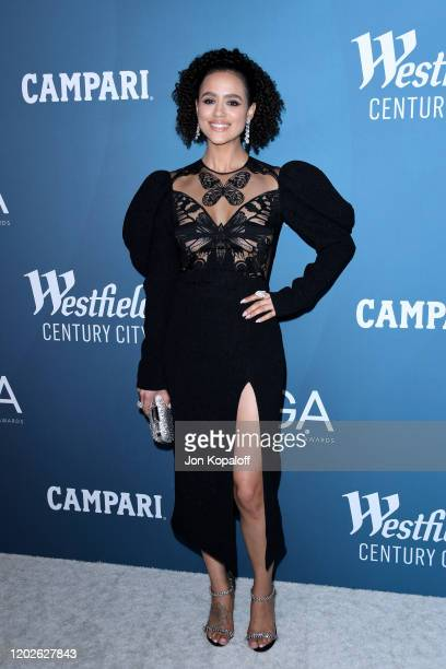 Nathalie Emmanuel attends the 22nd CDGA at The Beverly Hilton Hotel on January 28, 2020 in Beverly Hills, California.