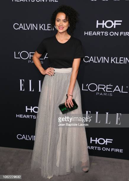 Nathalie Emmanuel attends the 25th Annual ELLE Women in Hollywood Celebration at Four Seasons Hotel Los Angeles at Beverly Hills on October 15 2018...