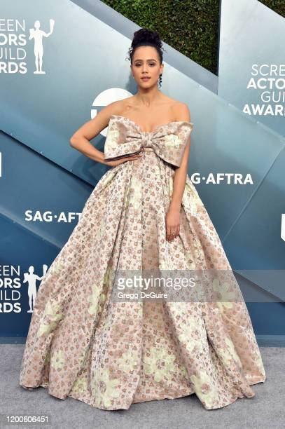 Nathalie Emmanuel attends the 26th Annual Screen Actors Guild Awards at The Shrine Auditorium on January 19, 2020 in Los Angeles, California. 721430
