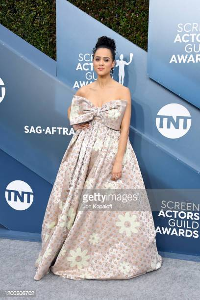 Nathalie Emmanuel attends the 26th Annual Screen ActorsGuild Awards at The Shrine Auditorium on January 19, 2020 in Los Angeles, California.