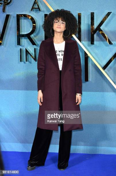 Nathalie Emmanuel attends the European Premiere of 'A Wrinkle In Time' at BFI IMAX on March 13, 2018 in London, England.