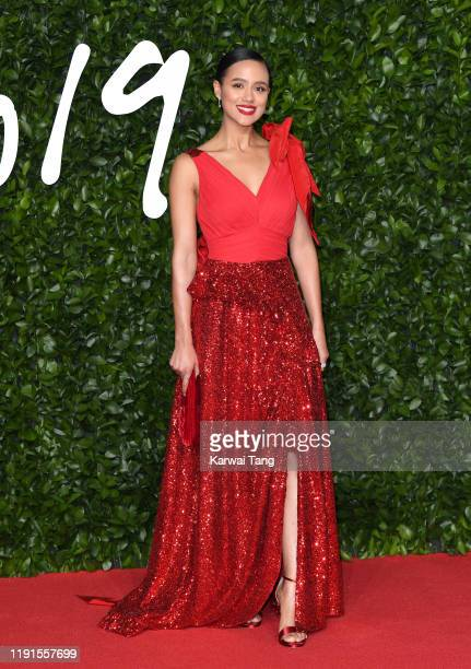 Nathalie Emmanuel attends The Fashion Awards 2019 at the Royal Albert Hall on December 02 2019 in London England