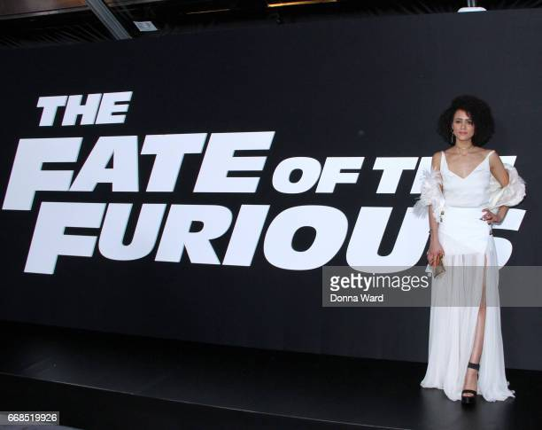 Nathalie Emmanuel attends 'The Fate of The Furious' New York Premiere at Radio City Music Hall on April 8 2017 in New York City