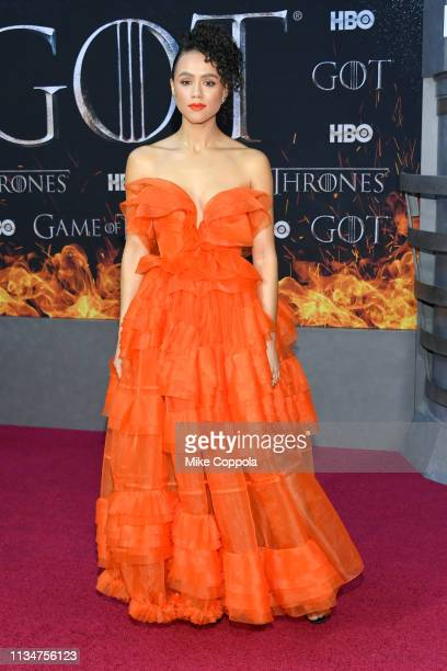 Nathalie Emmanuel attends the Game Of Thrones season 8 premiere on April 3 2019 in New York City