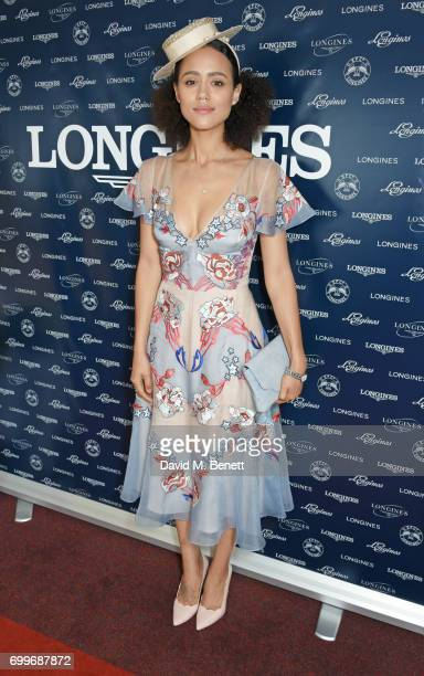 Nathalie Emmanuel attends the Longines suite in the Royal Enclosure during Royal Ascot on June 22 2017 in Ascot England