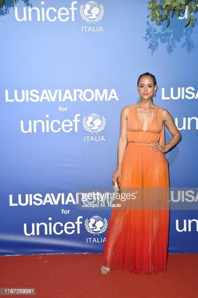 Nathalie Emmanuel attends the photocall at the Unicef Summer Gala Presented by Luisaviaroma at on August 09, 2019 in Porto Cervo, Italy.