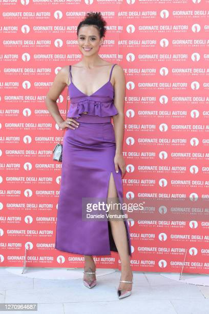 Nathalie Emmanuel attends the photocall of the Miu Miu Women's Tales at the 77th Venice Film Festival on September 06, 2020 in Venice, Italy.