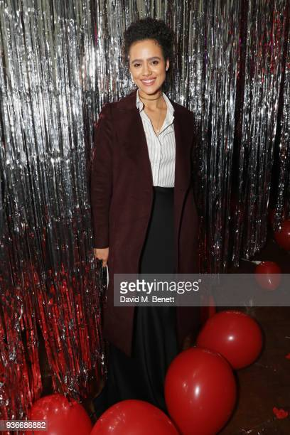 Nathalie Emmanuel attends the SelfPortrait store opening afterparty at Central St Martins on March 22 2018 in London England