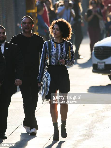 Nathalie Emmanuel is seen at 'Jimmy Kimmel Live' on April 06 2017 in Los Angeles California