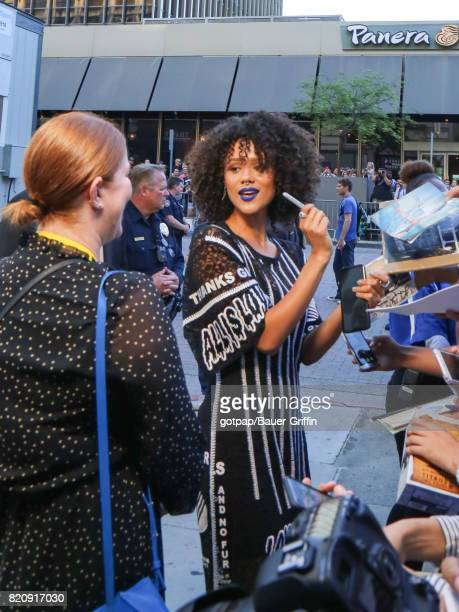 Nathalie Emmanuel is seen on July 21 2017 in San Diego California