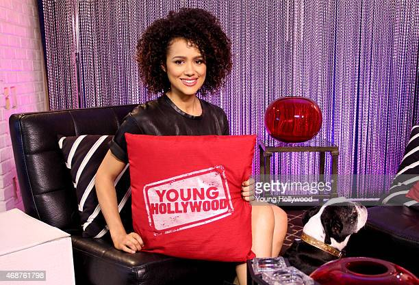 Nathalie Emmanuel visits the Young Hollywood Studio on April 6 2015 in Los Angeles California