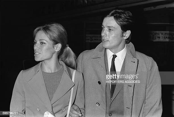 Nathalie et Alain Delon actrice et acteur français circa 1970