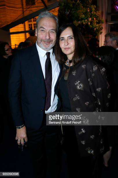 Nathalie Garcon and her husband JeanMarie Duprez attend the Reception given by LLAARR GrandDuc Henri of Luxembourg at Rodin Museum during the...