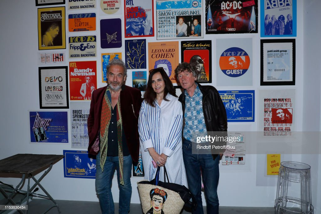 Albert Koski Exposes Its Rock&Roll Posters Collection At Galerie Laurent Godin In Paris : News Photo