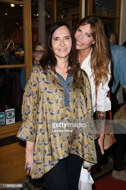 Nathalie Garçon and Laurence Treil attend the Over Fiftyet Alors fashion show on June 17 2019 in Paris France