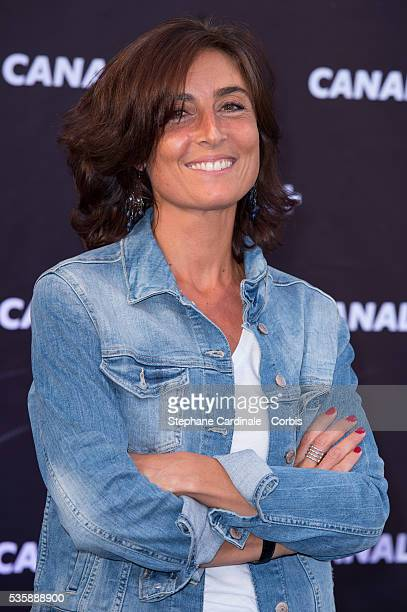 Nathalie Iannetta attends the Canal Press Conference in Paris