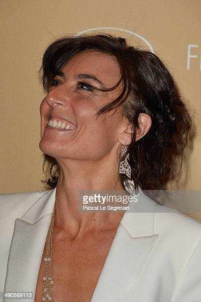 Nathalie Iannetta attends the Opening Ceremony dinner during the 67th Annual Cannes Film Festival on May 14 2014 in Cannes France