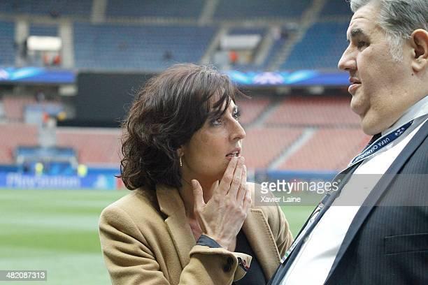 Nathalie Iannetta attends the UEFA Champions League Quatrer Finale between Paris SaintGermain FC and Chelsea FC at Parc Des Princes on March 12 2014...