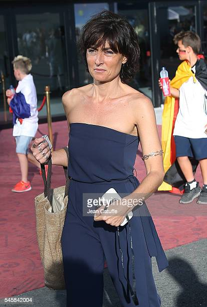 Nathalie Iannetta attends the UEFA Euro 2016 semifinal match between Germany and France at Stade Velodrome on July 7 2016 in Marseille France