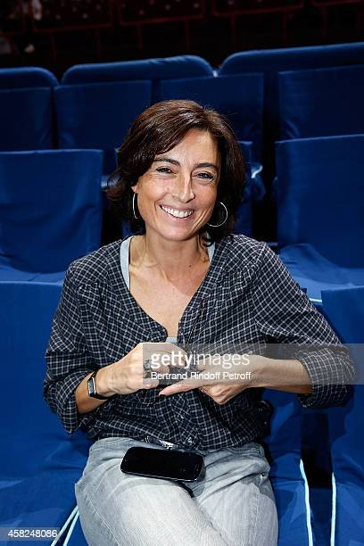 Nathalie Iannetta Counselor in Sports for French President Francois Hollande attend the half final of the BNP Paribas Tennis Masters day six at...