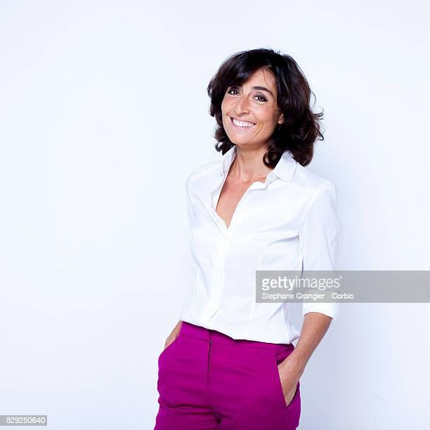 Nathalie Iannetta journalist photographed in Boulogne Billancourt