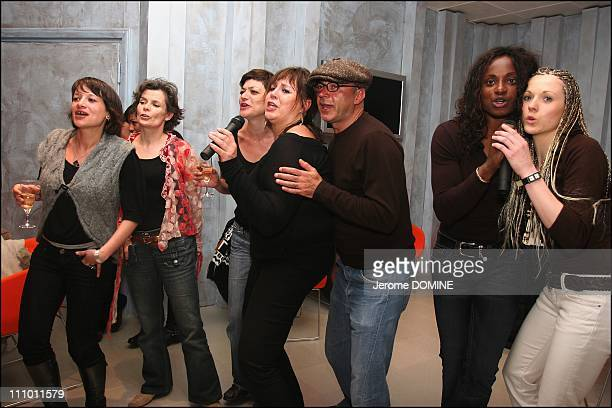 Nathalie Juvet Michele Bernier Patrick Bosso Cecilia Cara and Eunice Barber at the 23th 'Mont Blanc d'humor' Festival in St Gervais les Bains France...