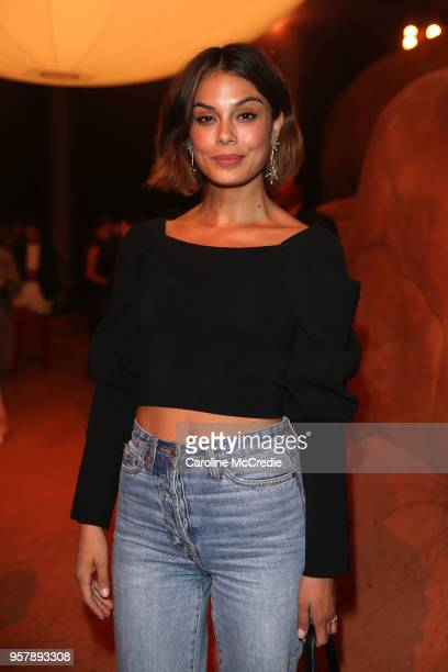 Nathalie Kelley attends the MercedesBenz Presents Camilla And Marc show at MercedesBenz Fashion Week Resort 19 Collections at the Royal Hall of...