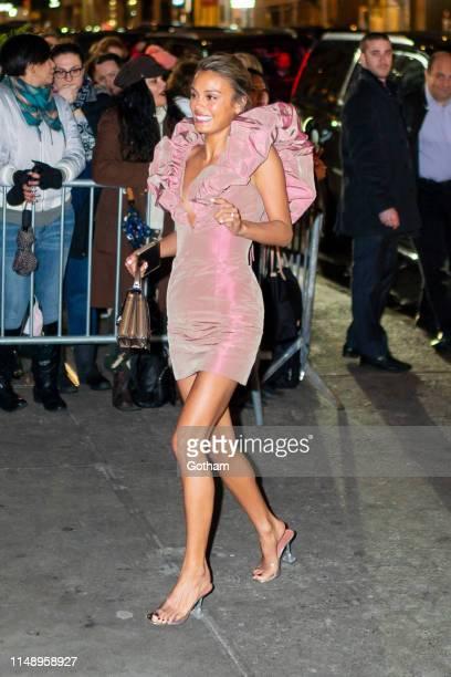 Nathalie Kelley is seen in Chelsea on May 13 2019 in New York City