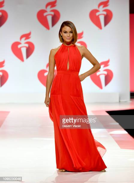 Nathalie Kelley walks the runway for The American Heart Association's Go Red For Women Red Dress Collection 2019 Presented By Macy's at Hammerstein...
