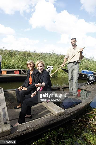 Nathalie Kosciusko Morizet and Valerie Letard inaugurated theNational Nature Reserve for the ponds of Romelaere in Clairmarais France on August 21st...