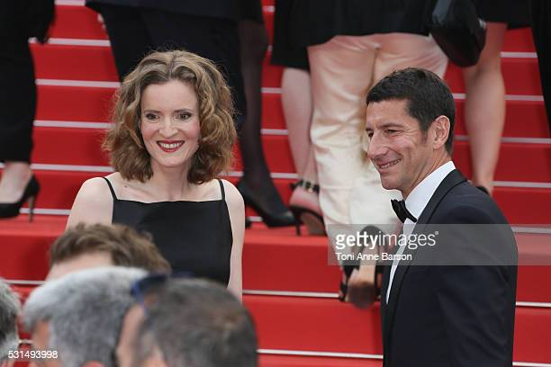 """Nathalie Kosciusko-Morizet and Cannes Mayor David Lisnard attend a screening of """"The BFG"""" at the annual 69th Cannes Film Festival at Palais des..."""