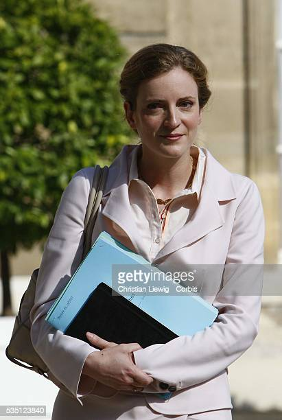 Nathalie Kosciusko-Morizet, Junior Minister for Ecology, Sustainable Development and Town and Country Planning arrives at the ministers' cabinet...