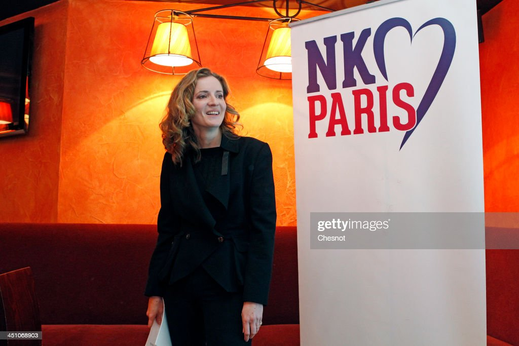 Nathalie Kosciusko-Morizet, Right-Wing UMP Party Candidate For Mayoral Elections In Paris Gives A Press Conference : News Photo
