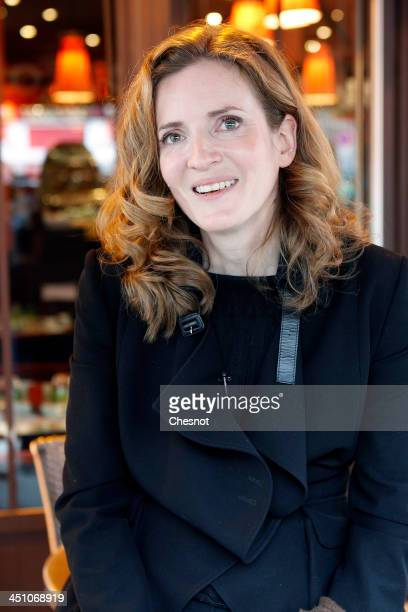 Nathalie KosciuskoMorizet Rightwing UMP Party candidate for the March 2014 Paris mayoral elections attends a press conference on November 21 2013 in...