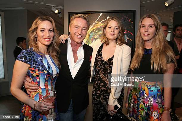 Nathalie Lambert Michael Flatley Tarka Russell and Tor Dashwood arrive at the Private View of 'Firedance' the inaugural art exhibition of artist...