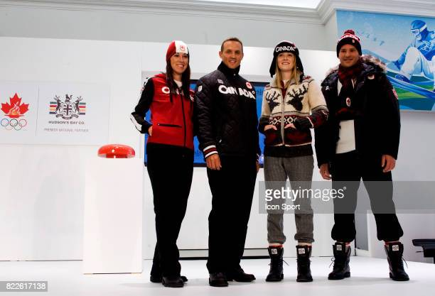 Nathalie Lambert/ Steve Yzerman / Jessica Gregg / Mike Janyk Ouverture de l Olympic Superstore a Vancouver Jeaux Olympiques d Hiver de Vancouver 2010...