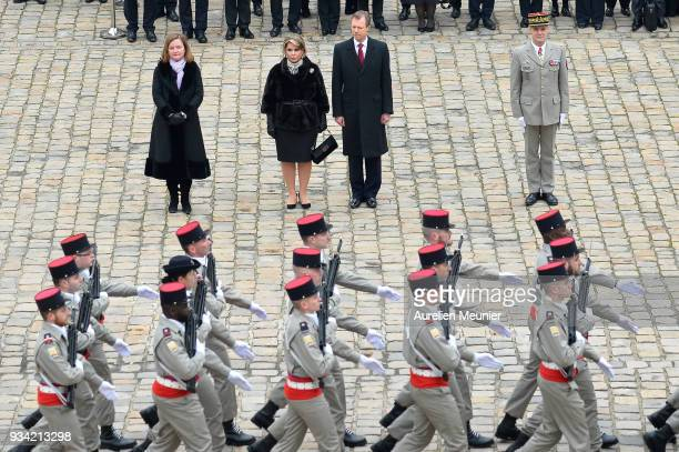 Nathalie Loiseau French Minister for European Affairs Maria Teresa Grand Duchess of Luxembourg and Henri Grand Duke of Luxembourg arrive to the...
