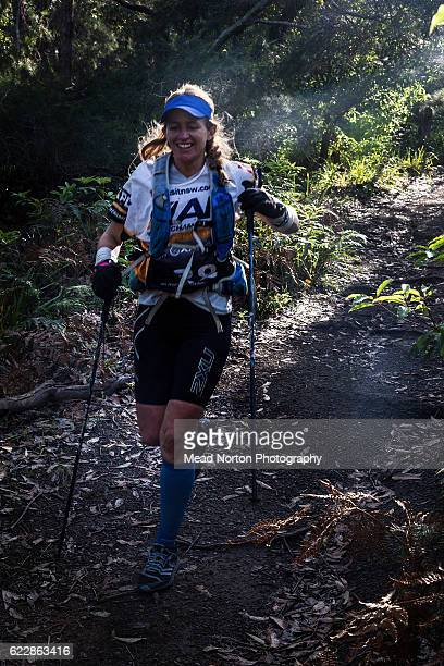 Nathalie Long from Team CanadaAR from Canada running along the trail during the Adventure Race World Championship on November 11 2016 in Shoalhaven...